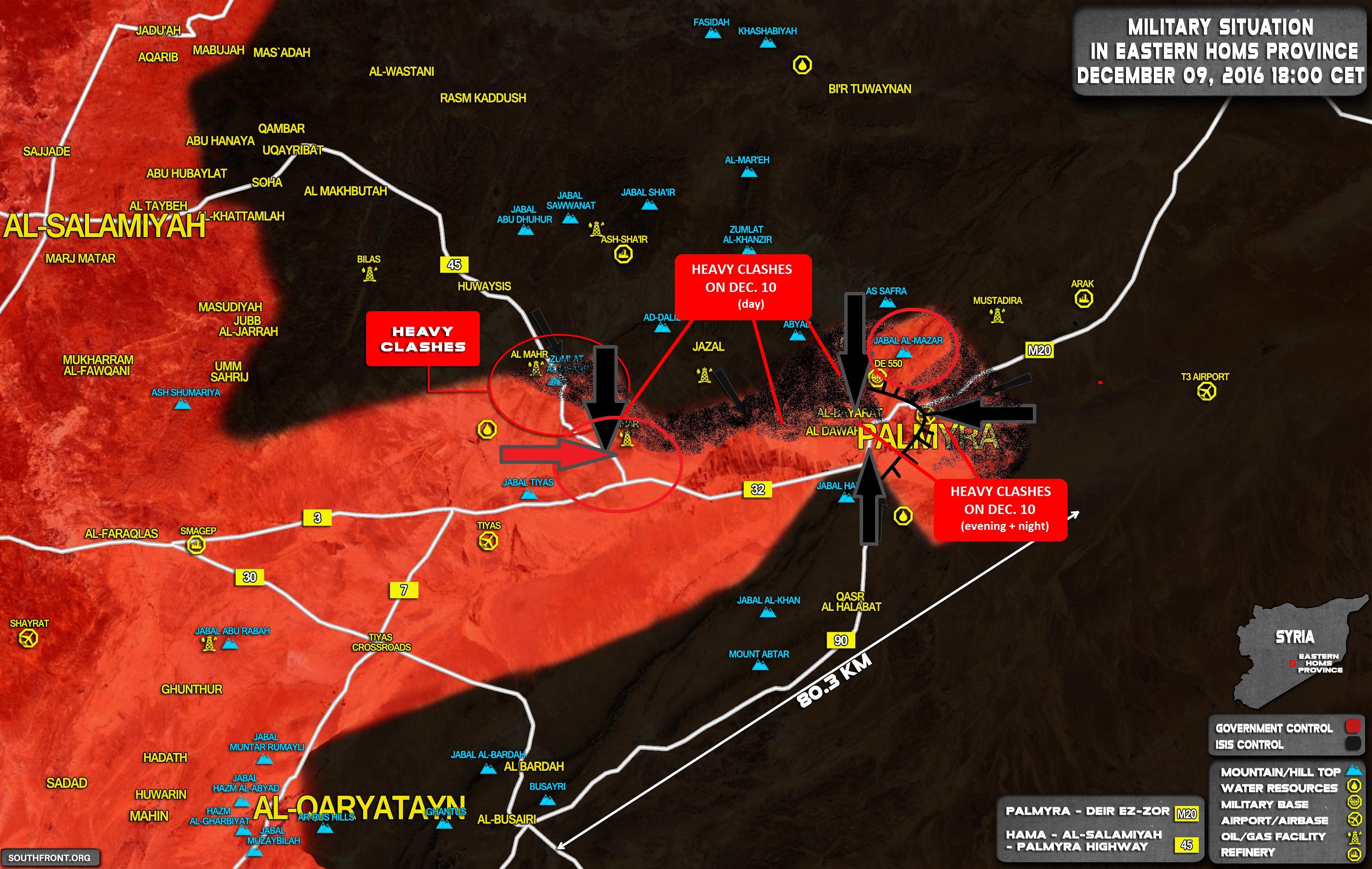 Extremal Situation near Palmyra (Events & Analysis)