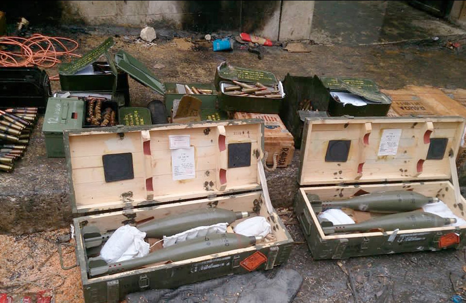 American made weapons found when Al Nusra left. Photo: Syrian Arab Army