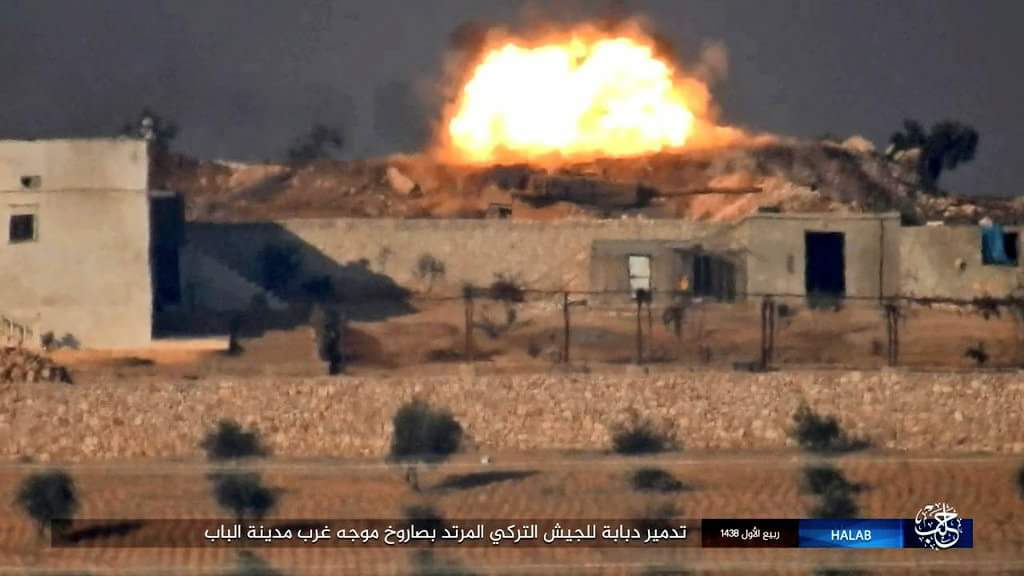 ISIS Hits 2 More Turkish Leopard-2 Tanks in Northern Syria (Photos)