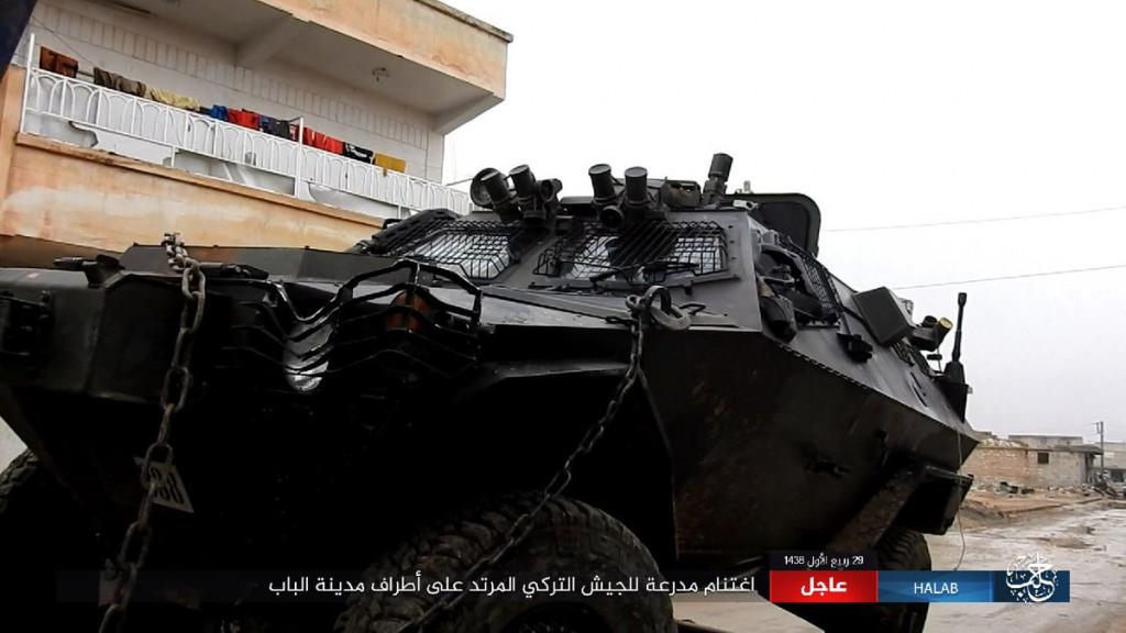 ISIS Sezied Another Cobra Armored Vehicle After Turkish Soldiers Fled From Positions Near Al-Bab (Photos)