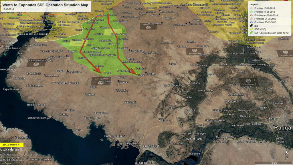 While ISIS Tied Up with Palmyra, Kurds Advance in Raqqa
