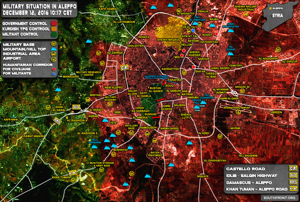 Syrian Army In Control Of 95% Of Aleppo City. 728 Militants Surrender To Govt Forces In Last 24 Hours