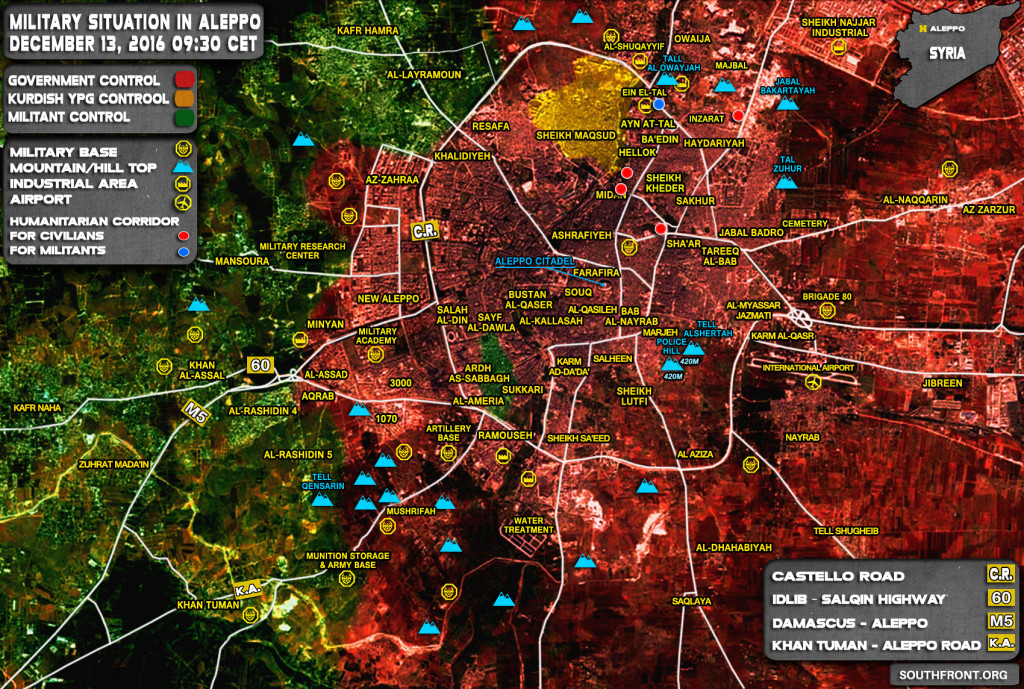 Military Situation In Syria After Liberation Of Aleppo (Maps)