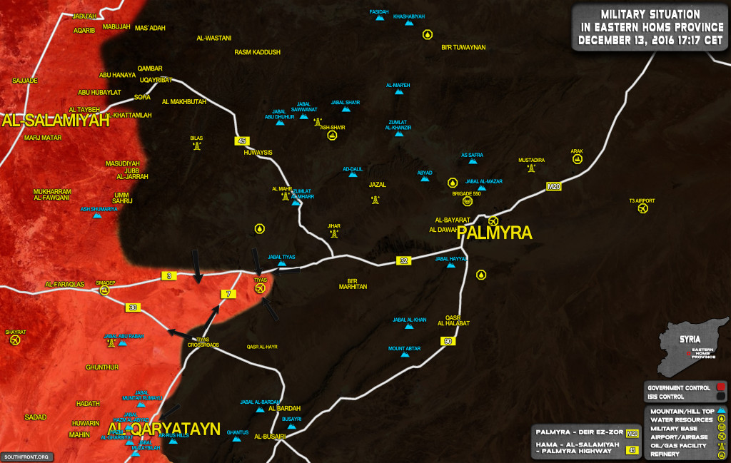 ISIS Seizes Strategic Tyas Crossroads. Govt Forces In Tyas Airbase Under Threat To Be Encircled (Map Update)