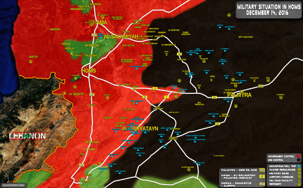 Govt Forces Regain From ISIS Strategic Hill North Of Tyas Airbase