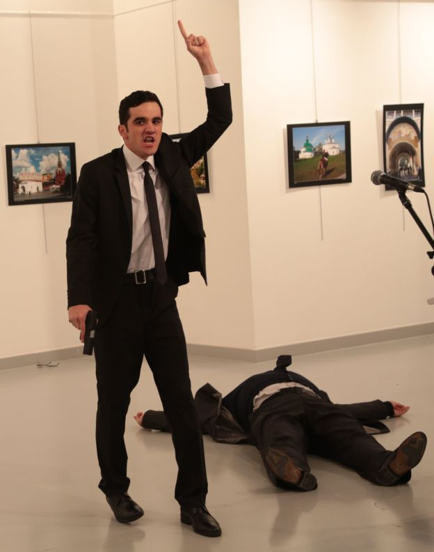 Mevlut Mert Altintas shot Andrei Karlov, and then yelled as the body lay beside him