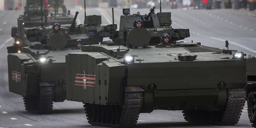 Kurganets-25 APC and IFV variants on display at the Victory Day Parade 2015.