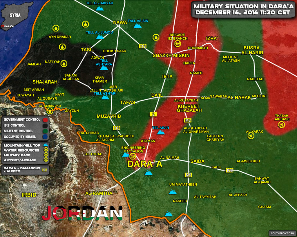 Syrian Army Destroys Command Centre Of Terrorists In Daraa Province