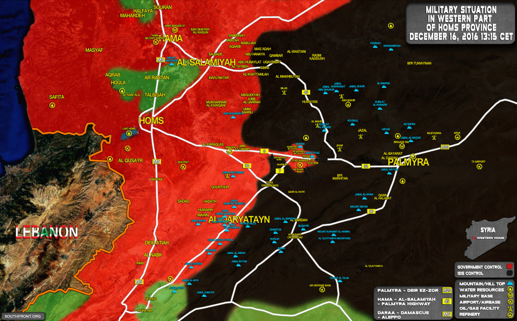 Syrian Government Forces Disrupt ISIS Offensive On Tyas Airbase In Homs