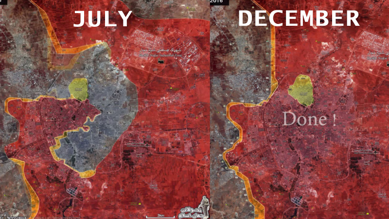 Military Situation In Aleppo City: July - December, 2016 (Animated Map)
