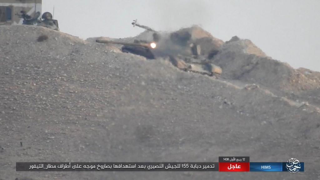 ISIS Flanking Strategic Tyas Airbase West Of Palmyra