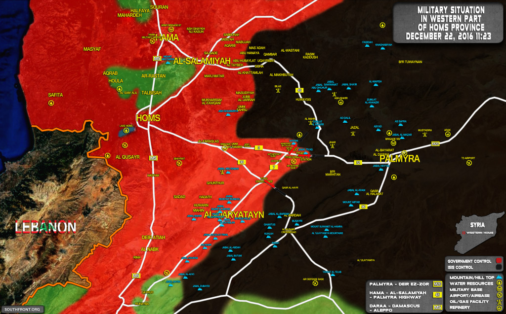 Syrian Army, Backed Up By Russian Aerospace Forces, Expands Buffer Zone Near Tyas Airbase