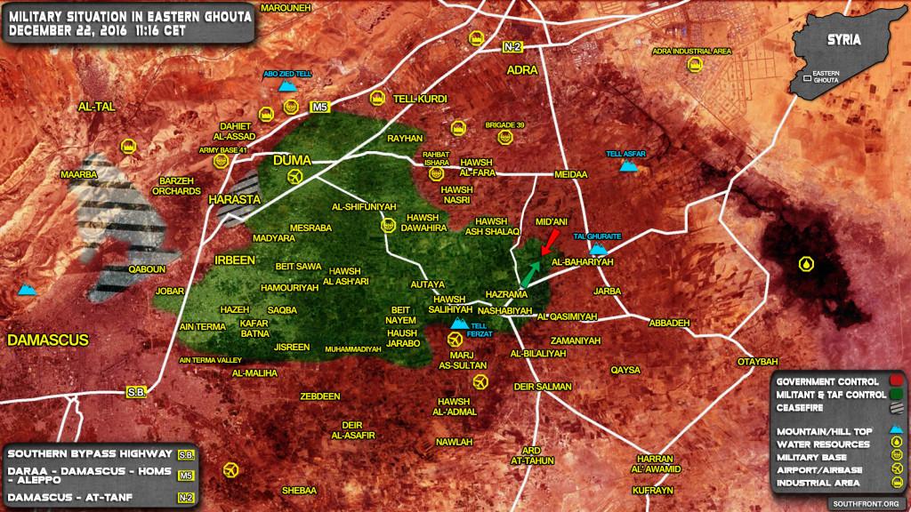 Clashes In Eastern Ghouta. Al-Nusra (Al-Qaeda) Military Commander Was Killed