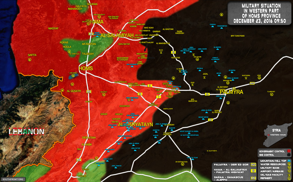 ISIS Launches Surprise Attack, Seizes Village From Govt Forces In Homs Province
