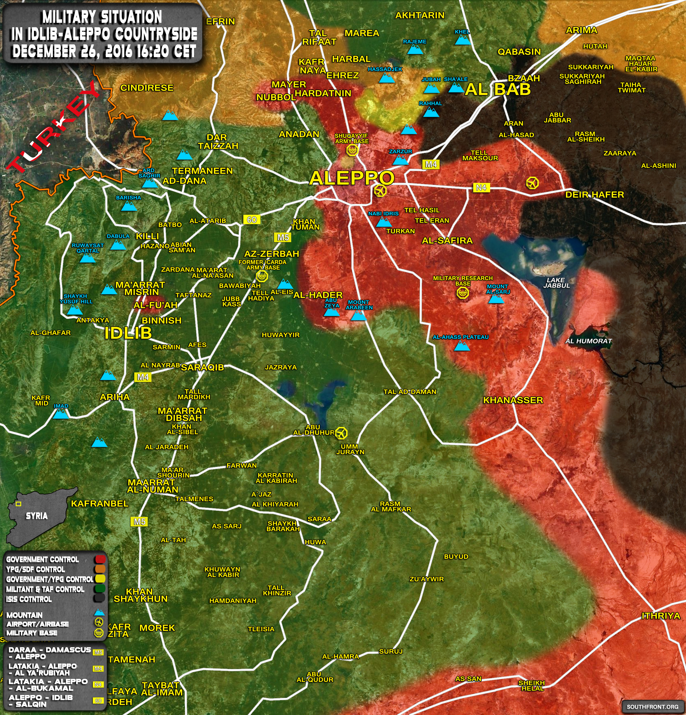Situation In IdlibAleppo Countryside Syria Map Update