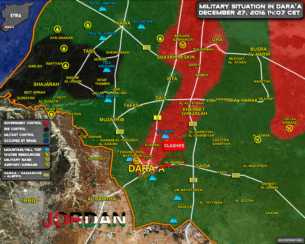 Clashes Between Govt Forces And FSA Militants Erupt In Daraa Province