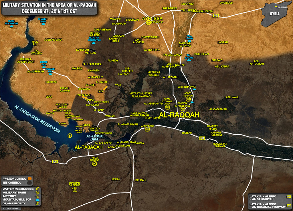 ISIS Counter Attacks Against Kurdish YPG Forces Near Tabqa Dam In Raqqah Province