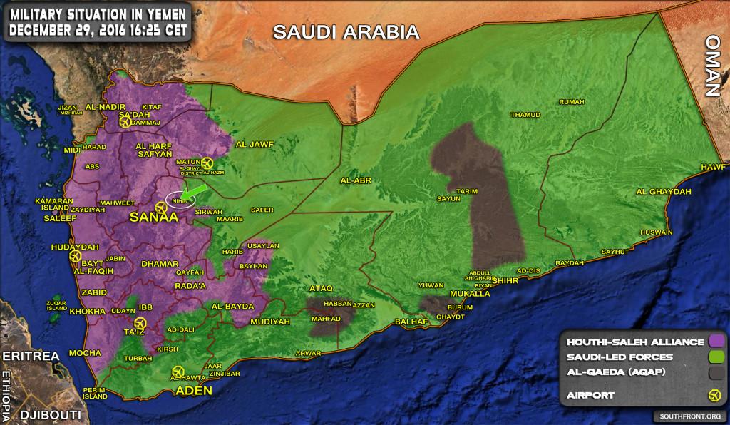 Saudi Forces Advancing Near Yemeni Capital (Map Update)