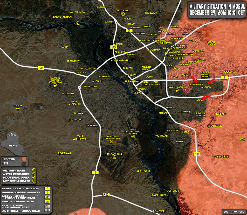 Iraqi Forces Launch New Offensive on ISIS Positions in Mosul (Map Update)