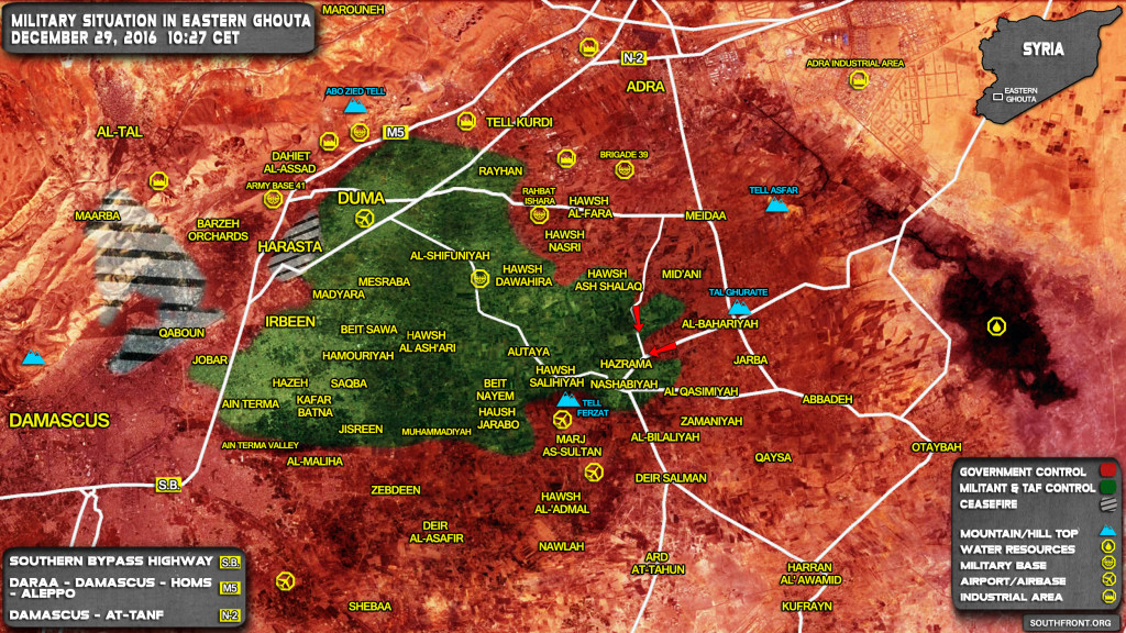 Syrian Army Storming Key Village Of Hazrama In Eastern Ghouta
