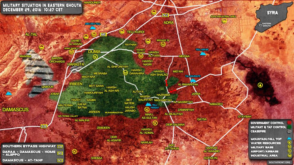Syrian Army Storming Key Village Of Hazrama In Eastern Ghouta