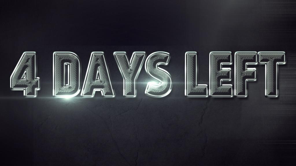 4 Days Left Until The End Of December