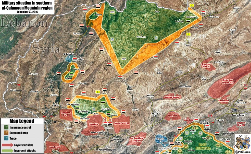 10 Terrorists Killed In Syrian Army Artillery Strikes In Wadi Barada Area