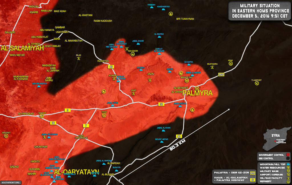 Syrian Army Hampers ISIS Maneuverability in Eastern Homs