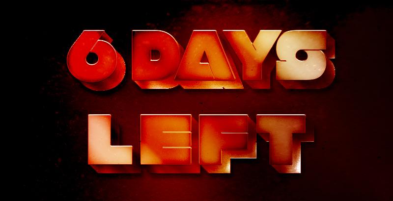 6 Days Left Until The End Of December