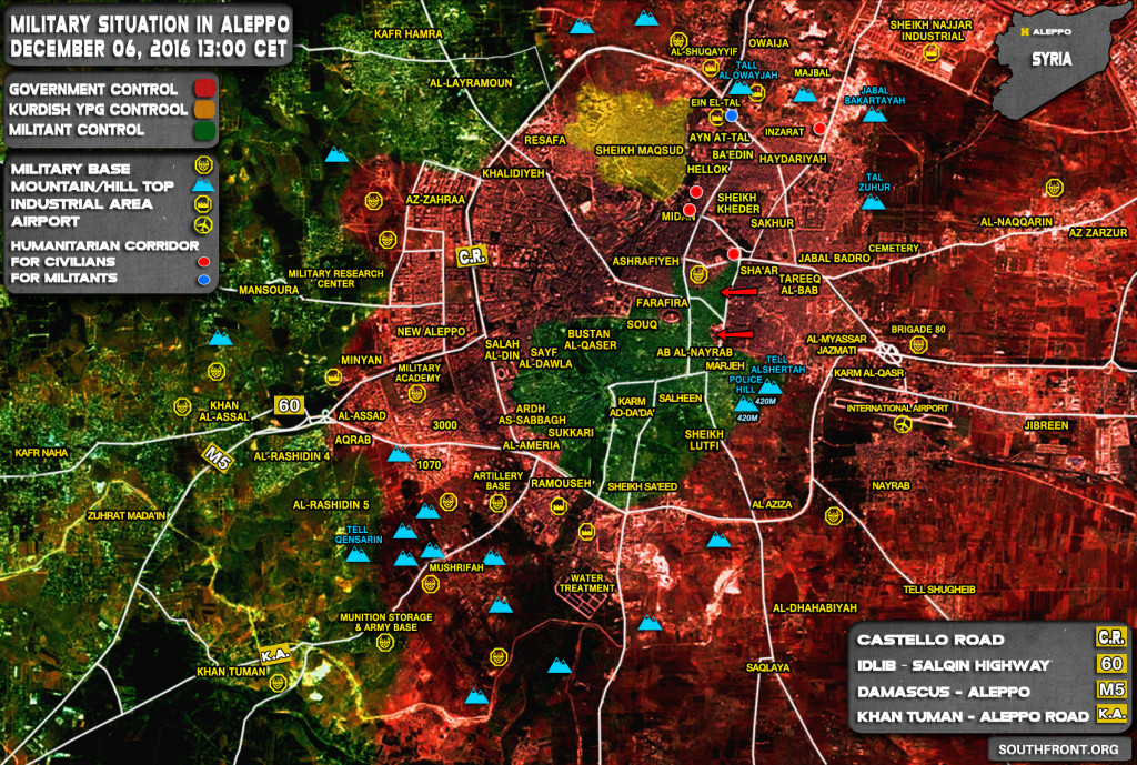 Syrian Army Liberates al-Shair Neighborhood Of Aleppo City - Reports