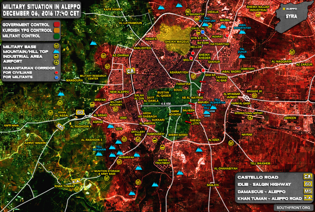 Government Forces Liberate Two More Districts of Aleppo (Map Update)