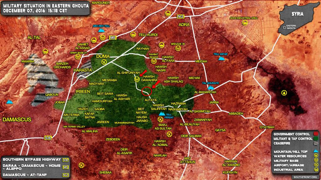 Syrian Army Liberates Hawsh Ash Shalaq in Eastern Ghouta