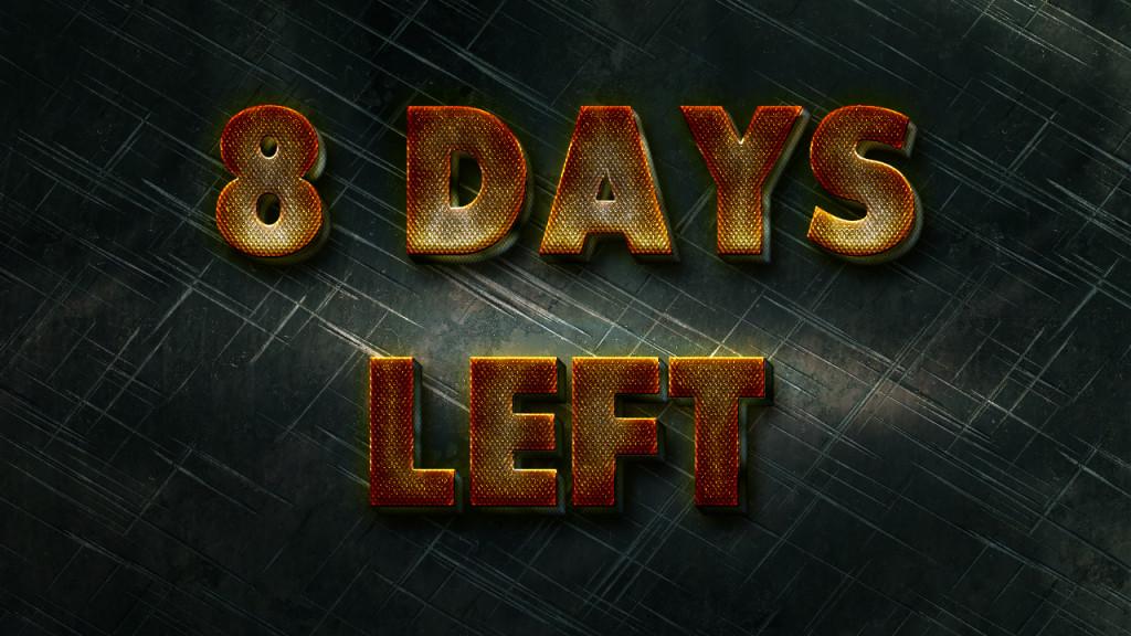 8 Days Left Until The End Of December