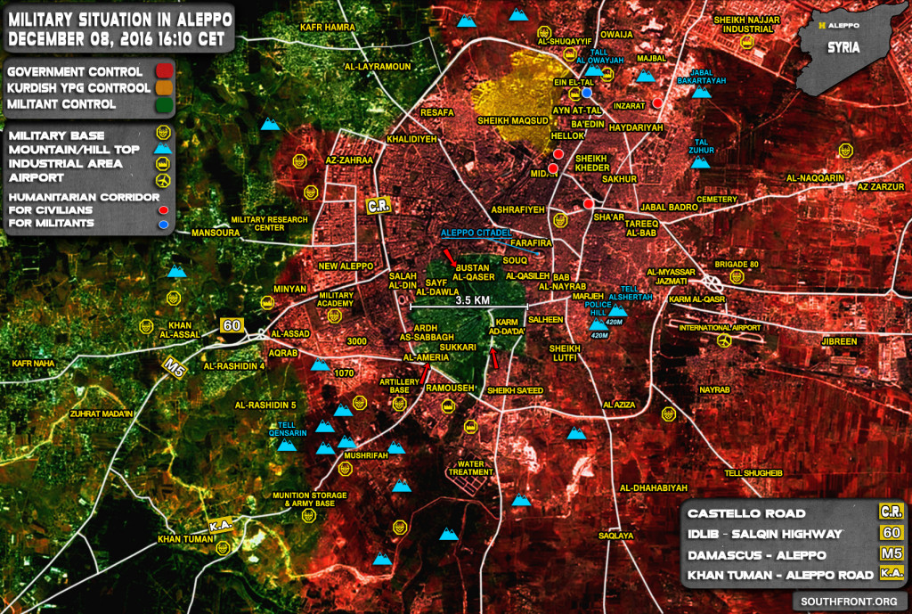 Govt Forces Liberate Key District In Aleppo City. Al-Nusra (Al-Qaeda) Requests Safe Passage