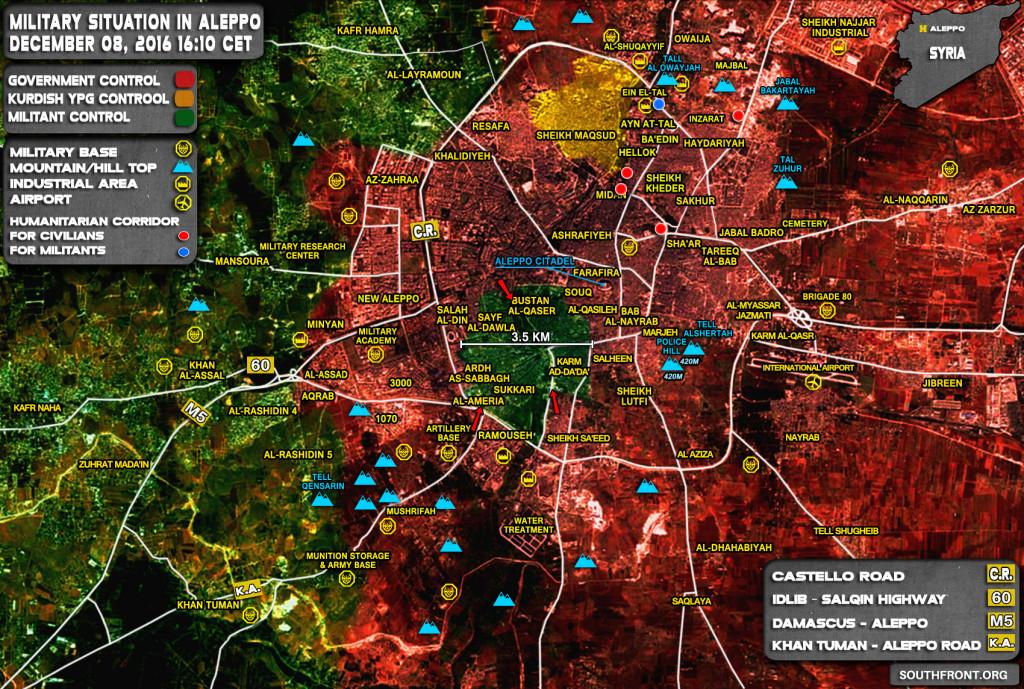 Govt Forces Liberate Key District In Aleppo City. Al-Nusra (Al-Qaeda) Requests Safe Passage