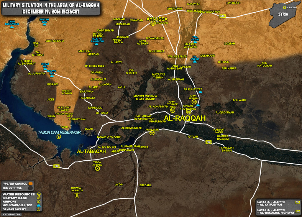 Kurdish YPG Forces Reach Tabqa Dam Reservoir Near ISIS Self-Proclaimed Capital Of Raqqah