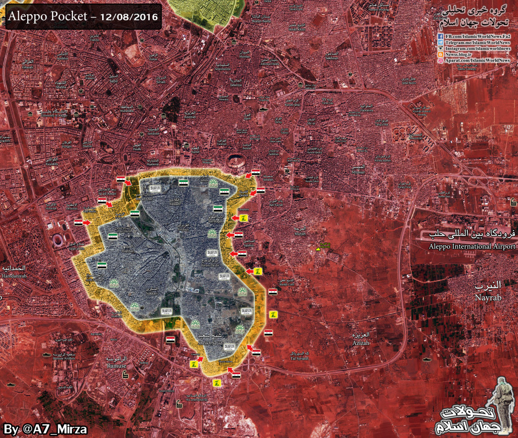 Syrian Army & Allies Advance Deeper Into Militant-Held Area In Aleppo City