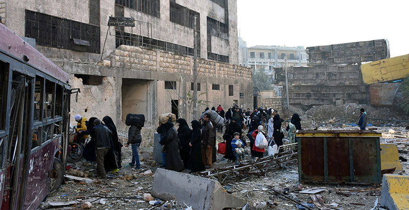 Nearly 8,500 Civilians Leave Militant-Held Areas of Eastern Aleppo