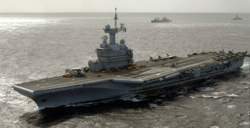 US-Led Coalition Loses Key Aircraft Carrier