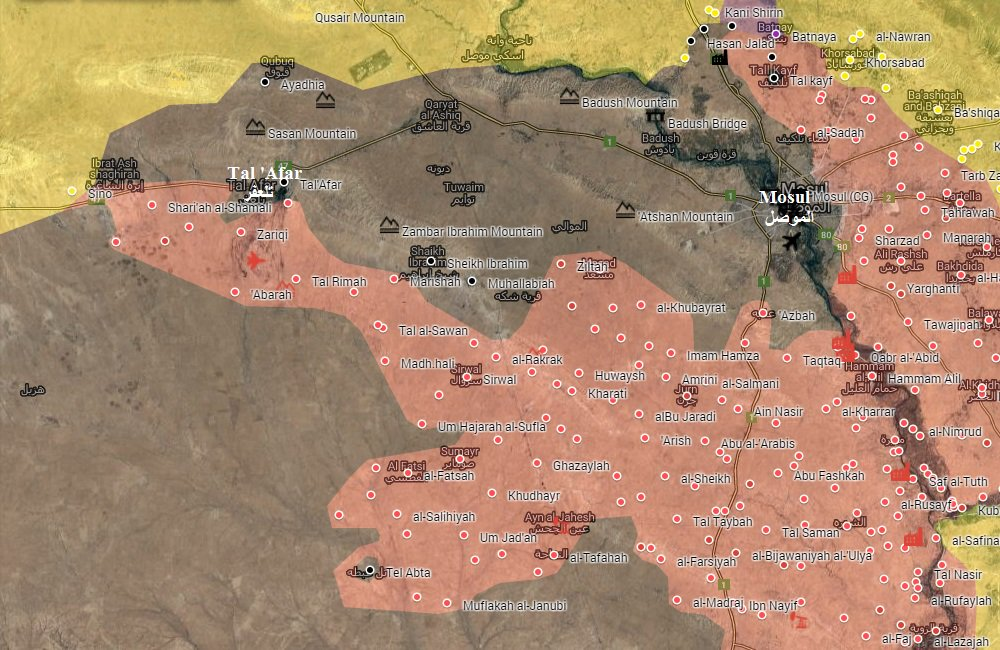 Iraqi Map Update: Military Situation In The Area Of Mosul