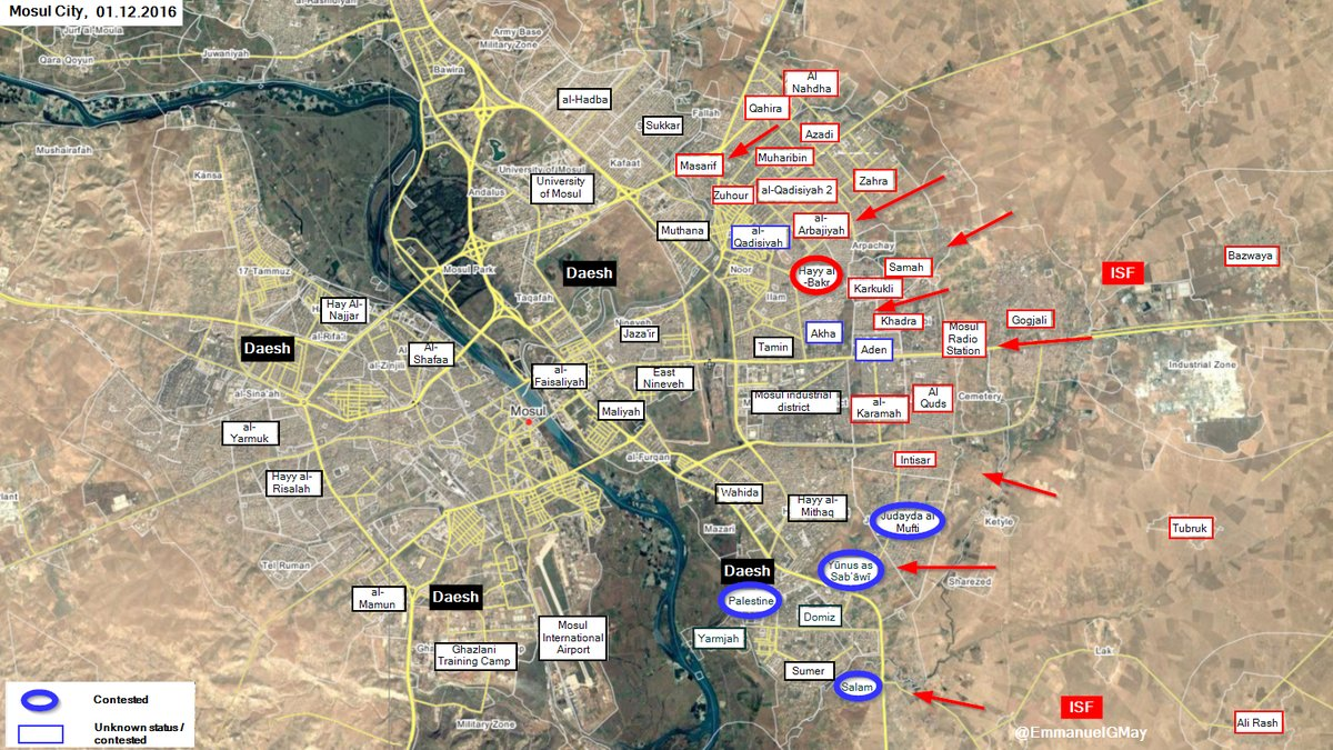 Iraqi Security Forces Seize Hayy al-Bakr District of Mosul from ISIS