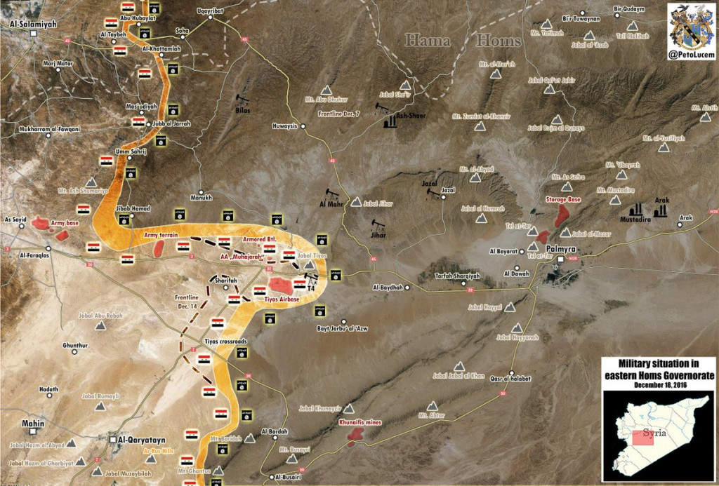 Intense Fighting Between Syrian Army And ISIS West Of Palmyra