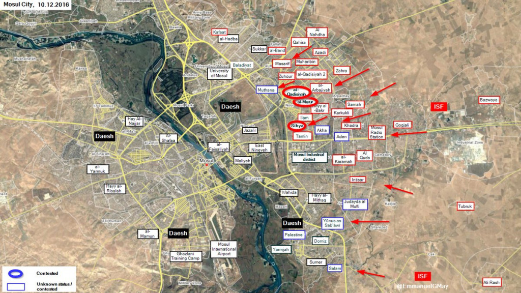 Iraqi Forces Liberate al-Qadisiyah and al-Murur Districts of Mosul