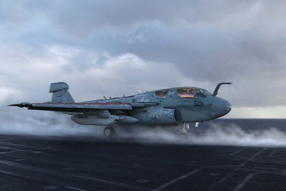 Flightdeck Fail: Technical Expert Blown Out by EA-6B Prowler's Exhaust (Video)
