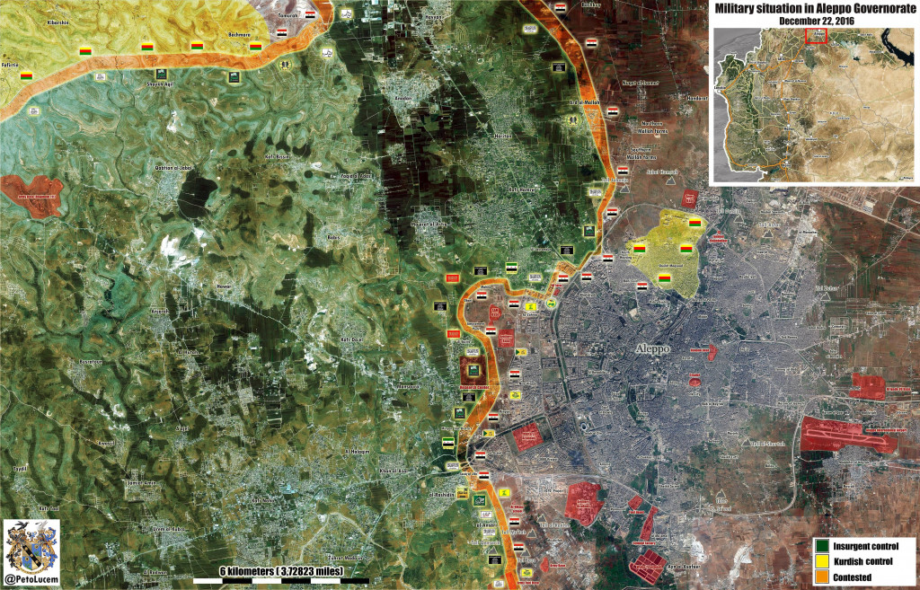 Map Update: Military Situation In Aleppo And Its Western Countryside