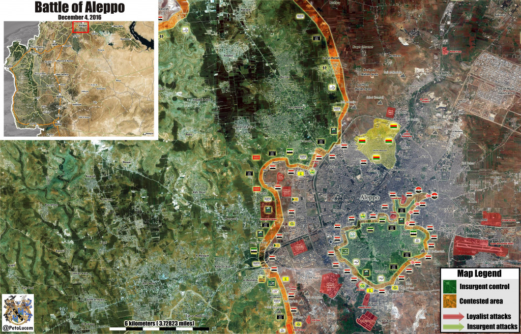 Map Update: Current Military Situation in Syria's Aleppo CIty