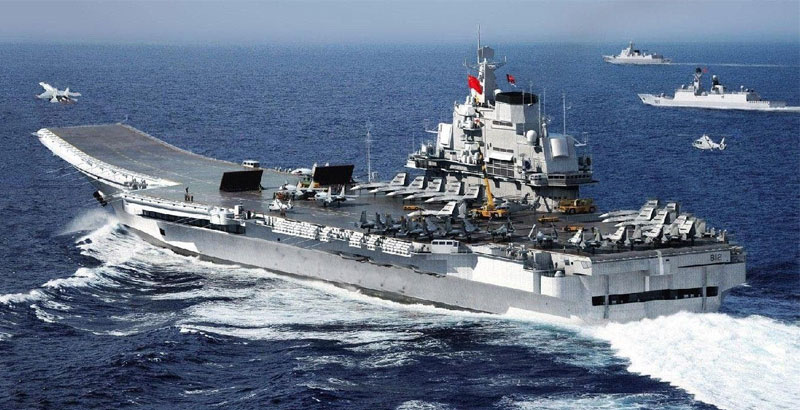 Chinese Aircraft Carrier & 5 Warships Pass Taiwan on Way to Drills in S. China Sea