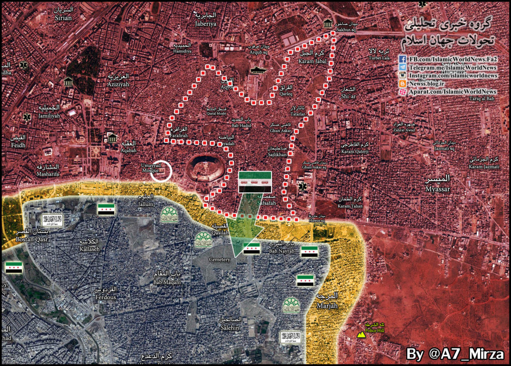 Areas Adjacent To Aleppo Citadel In Hands Of Syrian Army, Group Of Fatah Halab Militants Surrender To Govt Forces