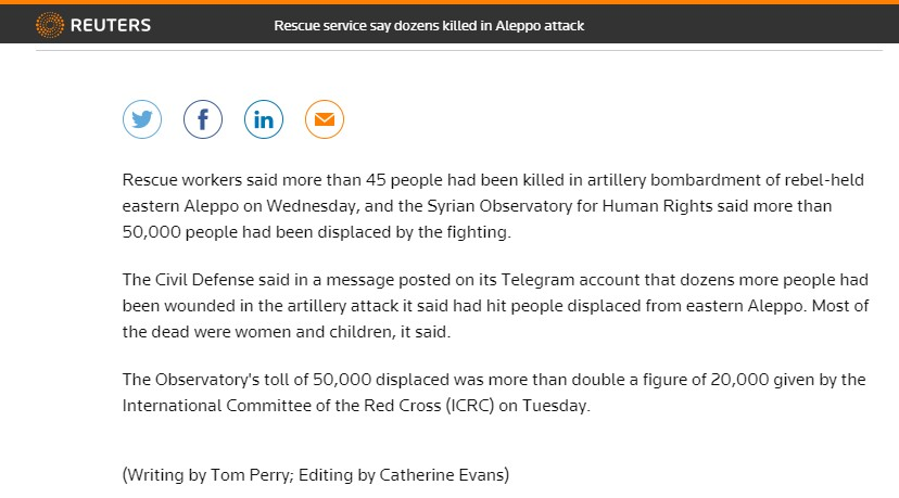 'Rebels' Murdered 45 People in Aleppo and Blamed 'Regime Strikes'? (Caution Graphic Content)