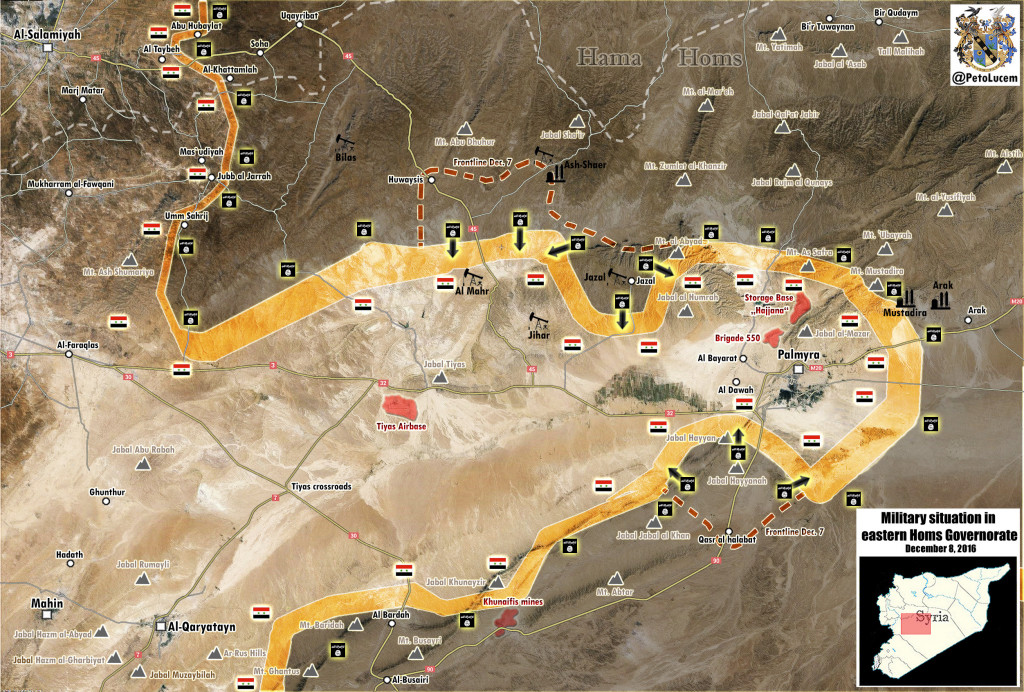 ISIS Offensive Cools Down Near Palmyra, Terrorists Make No Strategic Gains